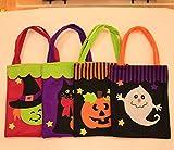Qsoleil Schreckliche Geräte 1 Stück Kinder Handtasche Halloween Thema Decor Paket Süßigkeitstasche Einkaufstasche Festival Zubehör (Random)