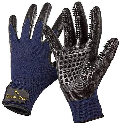 QHorse Comb Haustierbedarf Professionelle Fellpflege-Handschuhe, sanfte Bürste mit verbessertem Fünf-Finger-Design für Hunde, Katzen und Pferde,Baden, Massagen und Haarentfernung