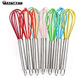 Pinkdose® Gxyayybb 1Pcs Drink Whisk Mixer Egg Beater Silicone Egg Beaters Kitchen Tools Hand Egg Mixer Cooking Foamer Wisk Cook Blender