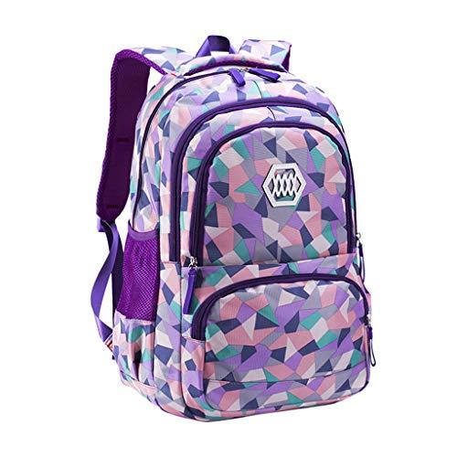 Diagonale Saum Top (Makefortunewasserdichte Schulrucksack für Mädchen Middle School Cute Bookbag Daypack Wandern Rucksack Cool Sport Rucksack Laptop Rucksack für Frauen Damen)