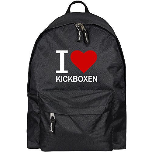 Rucksack Classic I Love Kickboxen schwarz