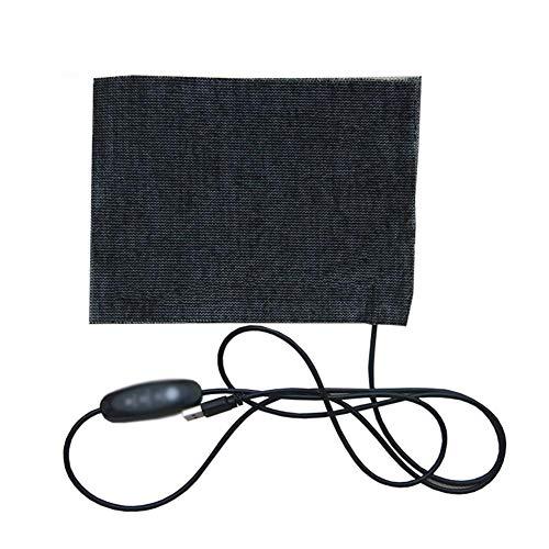 su-luoyu Elektrische Heizkissen 5V USB Heiztuch Elektrisches Heizung Pad - Winter Thermostat-Heizmatte mit DREI Ebenen für Kissen, Kleidung 5,9 x 7,9 Zoll