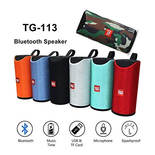 Elicraft TG113 Bluetooth Speaker Portable Wireless Speaker with Mic Super Bass Splashproof Wireless Bluetooth Speaker||USB MP3 Player