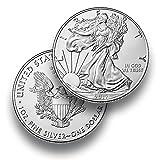 Silbermünze American Eagle - 2017 - einzeln in Münzkapsel verpackt - 1 Unze Silber - Neu und prägefrisch