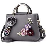 GSYDXKB PU-Leder-Handtaschen für Umhängetasche Frauen Blume Farbe Feste Tasche Umhängetasche weibliche Ledertasche