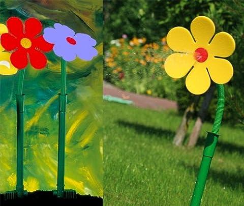 Drôle !!!! Asperseur fleur folle pâquerette jaune pour pelouse jardin
