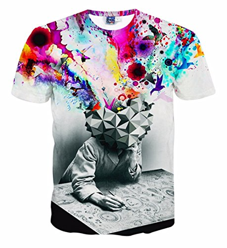 Men's 3D Both Sides Printed Short Sleeves Tee Shirt MODELS AS PICTURE 7