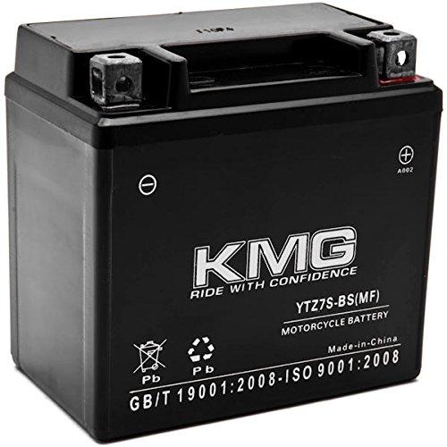 KMG YTZ7S Akku für Yamaha 250WR250X, R 2008-2012versiegelt Maintenace gratis 12V Batterie High Performance SMF Ersatz wartungsfrei Powersport Motorrad Roller ATV Schneemobil Boote mit KMG High-performance Powersports Batterie