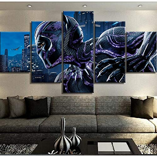5 unidades Canvas Art Black Panther Poster Modernas