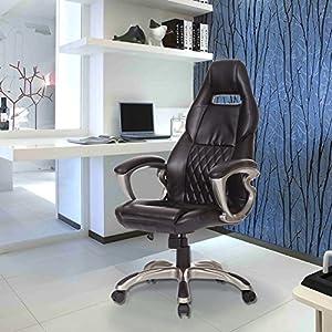 51jyOJTDQBL. SS300  - Homcom-Racing-Gaming-deporte-silla-giratoria-silla-de-escritorio-de-cuero-ejecutiva-silla-de-oficina-PC-de-la-computadora-sillas-altura-ajustable-silln