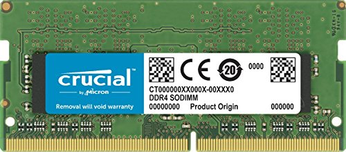 Crucial CT4G4SFS824A 4GB Speicher (DDR4, 2400 MT/s, PC4-19200, Single Rank x8, SODIMM, 260-Pin) -