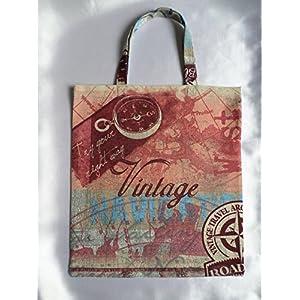 Maritime Stoff Tasche / vintage Look / Umwelt Beutel