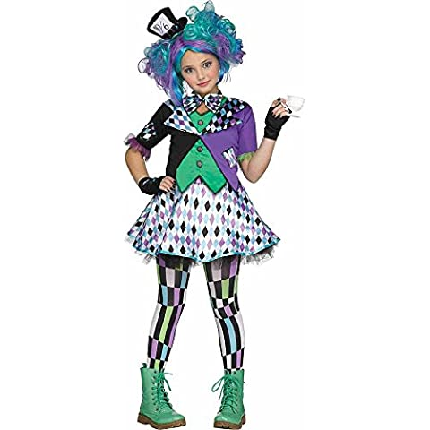 Girls Mad Hatter Kids Costume (Large 12-14)