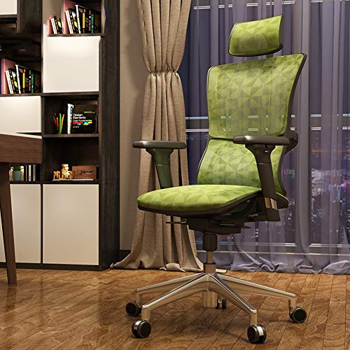 XUE Computer Chair, Ergonomic Chair Lift Swivel Chair Chair Chair Chair Home Breathable Mesh Chair Seat 360 Grad Swivel High Back Large Seat Durable and Stable