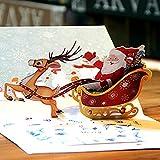 et confortable de Noël Cerf de voiture tridimensionnel carte Vacances bénédiction carte cadeau fait à la main.