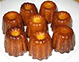 Kuchenform - Backform - für 8 Canneles - 100% Silikon - Ø je 5 cm - 5 cm hoch