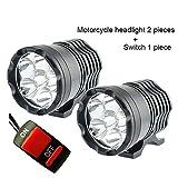 1 par de faros LED para motocicleta, 12 V, 60 W, 10 000 lúmenes, U2, LED, faro de motocicleta, faro delantero, luz principal, lámpara auxiliar DRL