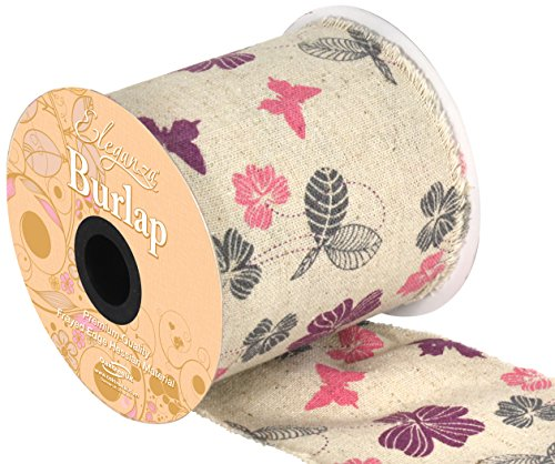 burlap-frayed-edge-vintage-butterfly-inspired-ribbon-100mm-x-1-metre