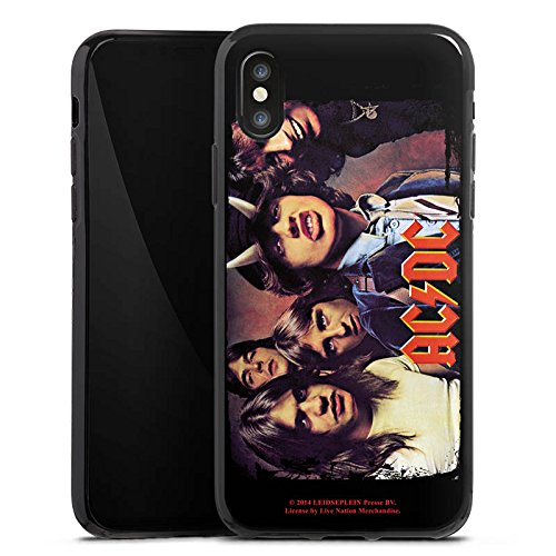 Apple iPhone 5s Silikon Hülle Case Schutzhülle ACDC Merchandise Fanartikel HIGHWAY Silikon Case schwarz