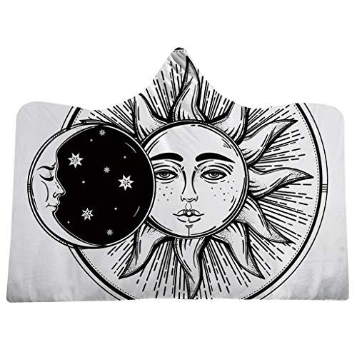 Opalley arazzo di tarocchi sole e luna psichedelico celestiale nero attaccatura a muro arazzi da muro mandala indiana boemo hippy beach throw (sun and moon)