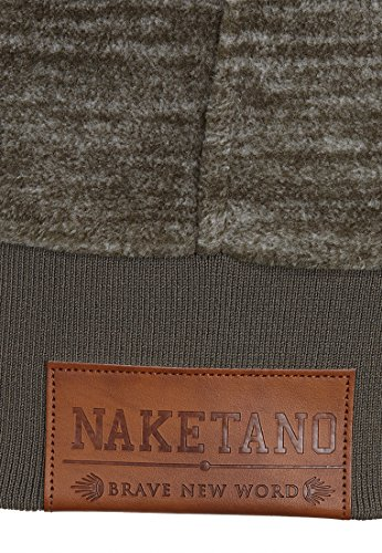 Naketano Male Zipped Jacket Mach Et Otze Dark Olive Melange