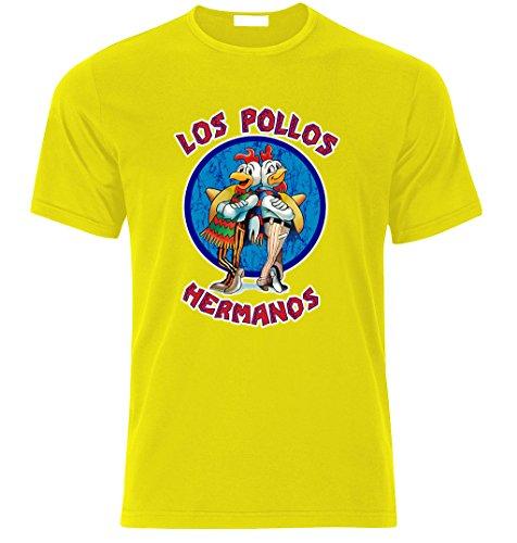LOS POLLOS HERMANOS BREAKING BAD HEISENBERG T Shirt S/M/L/XL/XXL Weihnachtsgeschenke Xmas Gelb