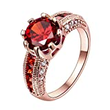 EODO Jewelry Elegante 4ct Ronda Cojín Solitario Halo Diamante Simulado Anillo de Compromiso de Boda color Oro Rosa