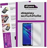 dipos I 2X Schutzfolie klar passend für Huawei Y6 (2019) Folie Bildschirmschutzfolie (bewusst Kleiner als das Glas, da Dieses gewölbt ist)