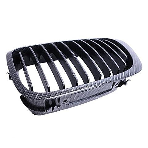 Wanoos Fibre de carbone Noir avant Rein Grill Grille pour BMW E462portes Série 398–02