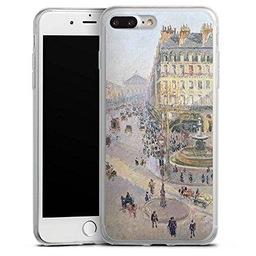 Apple iPhone X Slim Case Silikon Hülle Schutzhülle Camille Pissarro The Avenue de L'Opera Kunst Silikon Slim Case transparent
