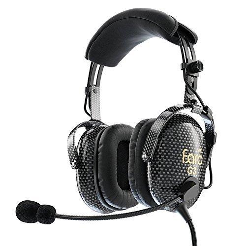 FARO Aviation FARO G3 ANR Aviation Headset (Active Noise Reduction) Carbon Fiber Premium Pilot Headset with Bluetooth