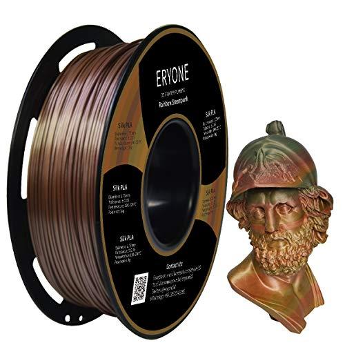 Steampunk Rainbow, Rainbow Filament PLA 1.75mm, Metallic und Multicolor PLA Filament für 3D-Drucker 1kg 1 Spule ()