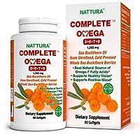 OMEGAS COMPLETS 3-6-7-9 contient de l'huile d'argousier pure de la plus haute qualité provenant des baies sauvages de l'argousier. L'huile d'argousier est un complexe poly vitaminique qui garantit l'apport optimal de phytonutriments nécessaire aux ré...