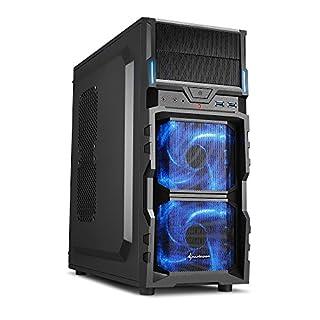 Sharkoon VG5-V PC-Gehäuse (Schnellverschlüsse, 2x 120-mm-LED-Lüfter vorinstalliert, USB 3.0)