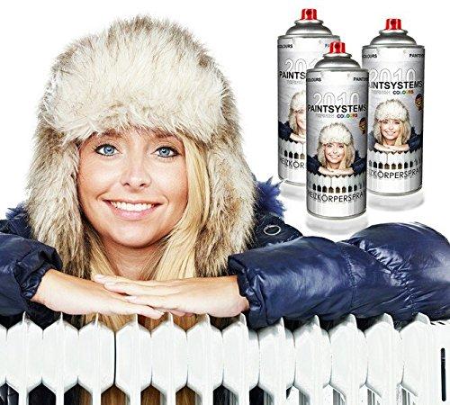 Preisvergleich Produktbild 3x400ml Heizkörperspray reinweiss Made in Germany