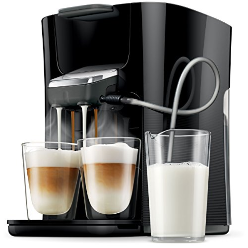 Philips Senseo HD7855/50 Latte Duo HD7855/50 Kaffepadmaschine mit Milchsystem, Easy Clean-Taste, schwarz thumbnail