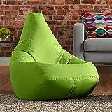 Hi Outdoor Sitzsack Bagz Hohe Rückenlehne Stuhl–Garten Sitzsack LIMETTENGRÜN–100% Wasserabweisend