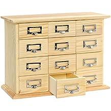 Petit meuble tiroir bois for Petit meuble a tiroirs en bois brut