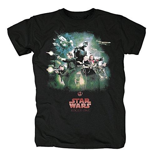 TSP Star Wars Rogue One Rebel Poster T-Shirt Herren XL ()
