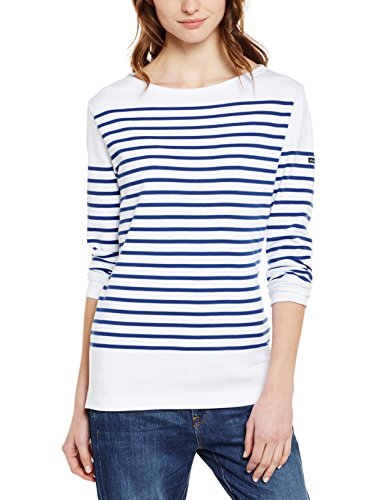 Armor Lux 07231, T-Shirt Femme, Blanc/Etoile Dw5, 38 (Taille Fabricant:1)