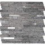 Mozaïek tegel marmer natuursteen brick splitface grijs roestvrij staal voor muur badkamer toilet douche keuken tegelspiegel T