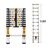 3,2 M Teleskopleiter Aluminium Klappleiter mit Finger Sicherheitseinstellungen und und entspricht EN131, SGS und CE-Standards von Anordsem