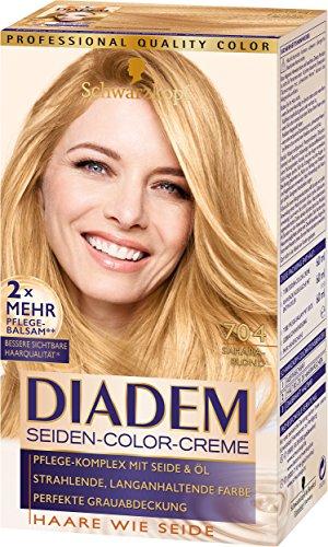 Schwarzkopf Diadem Seiden-Color-Creme, 704 Saharablond Stufe 3, 3er Pack (3 x 180 ml)