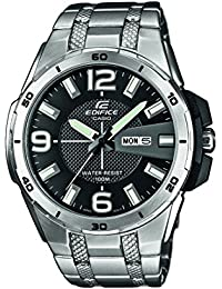 Casio Herren-Armbanduhr XL Edifice Analog Quarz Edelstahl EFR-104D-1AVUEF