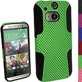 igadgitz u2875schwarz, grün Handy-Schutzhülle Hülle für Mobiltelefone (Schutzhülle, HTC One M8(One 2), Schwarz, Grün)