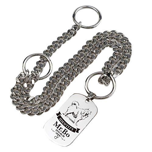 L Pet supplies Hundemarkenausweis benutzerdefinierte Beschriftung Hundehalsband P Kettenhalsband Hundeleine Zugseil mittlerer Hund großer Hund Haustier Anti-verloren -