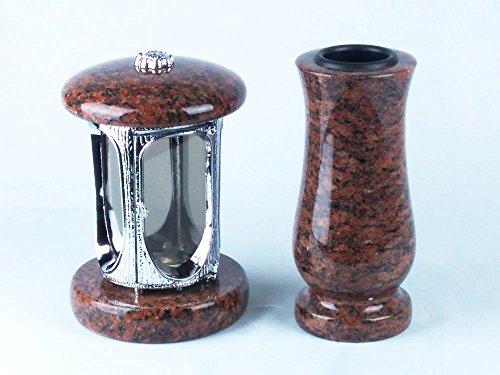 designgrab-alu-grablampe-aus-verchromtem-aluminium-und-grabvase-taille-medium-in-granit-vanga-oppman