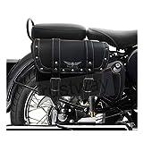 #6: Trustway RC-B2 Bike Bag Side/Rear Saddle Bag Waterproof Rectangle Printed Big Tool Bag Black for Royal Enfield Classic Desert Storm
