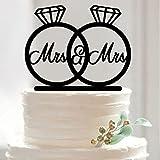 ROSENICE Tortenverzierung Tortenstecker Hochzeitstorte Topper Acryl Kuchendeckel Mr Mrs Cake Topper für Hochzeit Jubiläum Geburtstag Party Dekoration