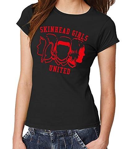 -- Skinheadgirls United -- Girls Shirt Schwarz, Größe